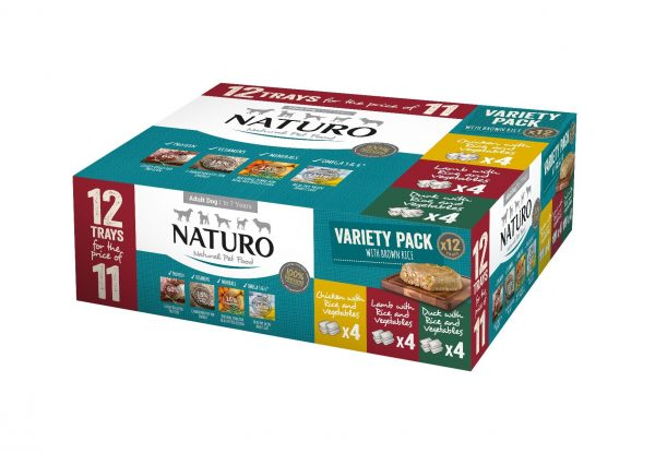 Naturo Adult Wet Dog Food With Rice Multipack
