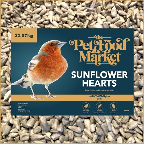 Sunflower Hearts Wild Bird Food 22.67kg